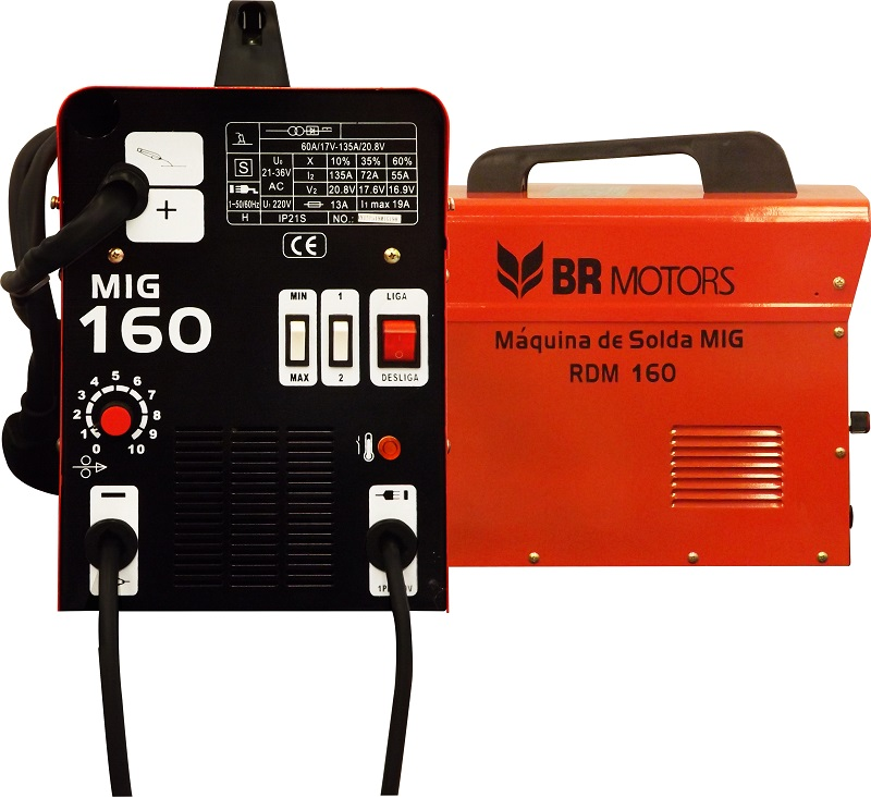 Máquina de Solda MIG sem gás RDM160  220v mono - Br Motors