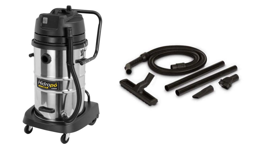 Aspirador Hidropó 1200W -  Mono 50 litros Inox - Schulz