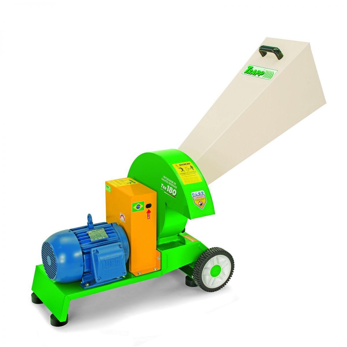 Triturador de Galhos e Resíduos TRR 180 220/380V Trif - Trapp