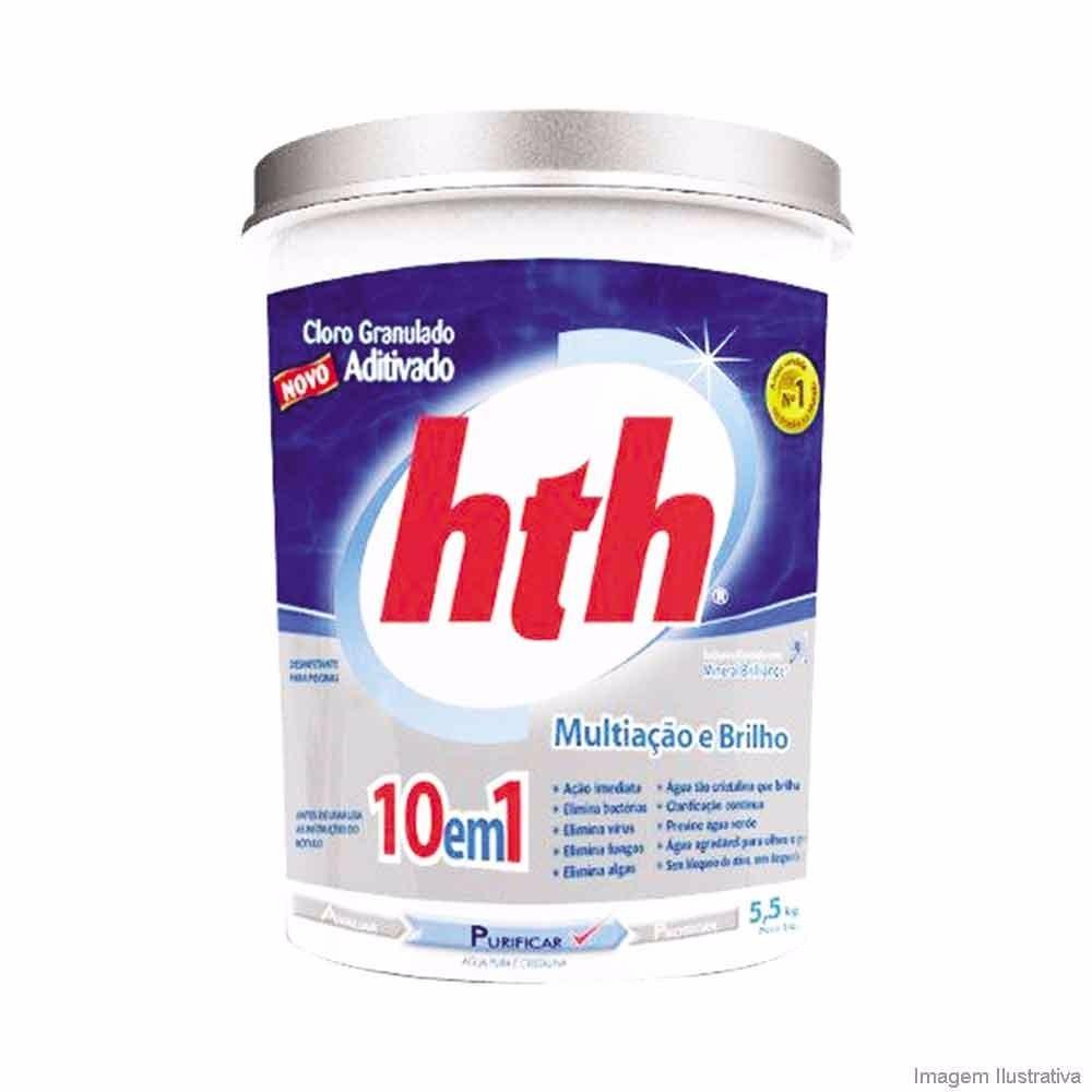 Cloro granulado 10kg Aditivado 10 em 1 - HTH