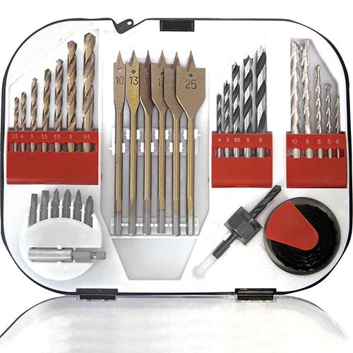 Jogo de Brocas e Acessórios 35 peças Mod. C3502 - Br Tools