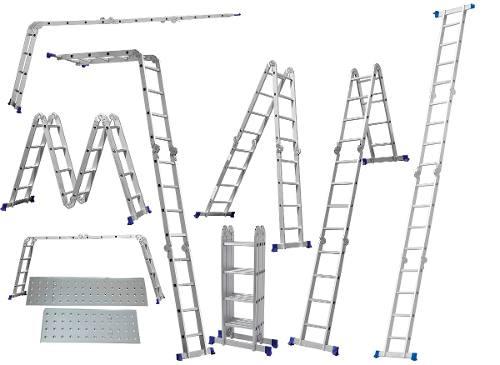 Escada Multifuncional 4x4 16 Degraus Com Plataformas - Mor