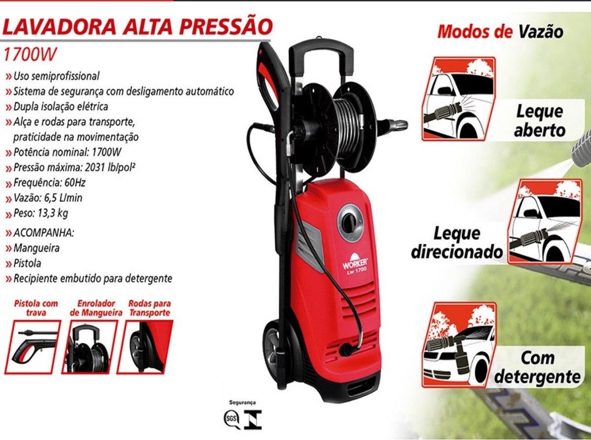 Lavadora Alta Pressão 1700w - Worker