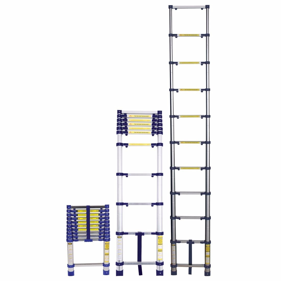 Escada Telescópica Alumímio 10 Degraus 3,12M - Mor