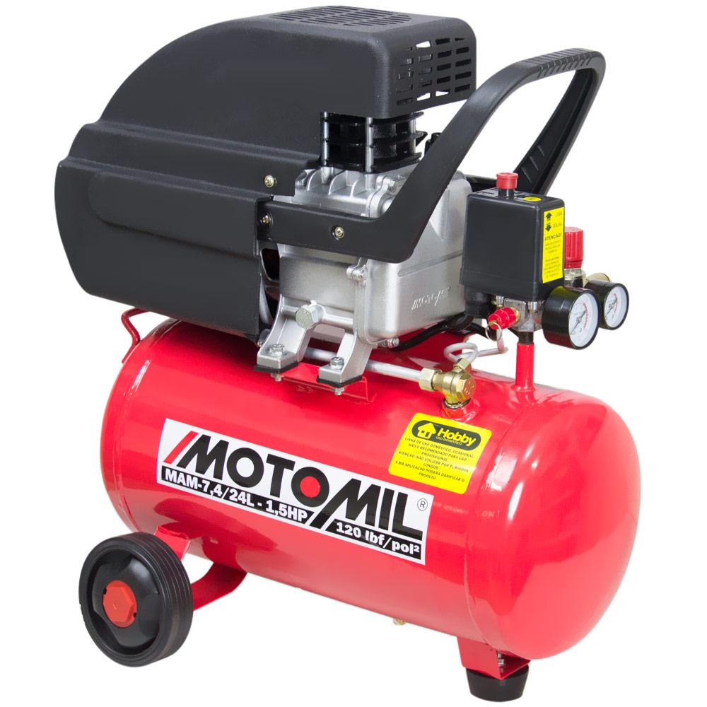 Motocompressor MAM 7,4/24L 1.5hp - Motomil