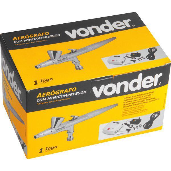 Aerógrafo com Mini Compressor Bivolt Vonder