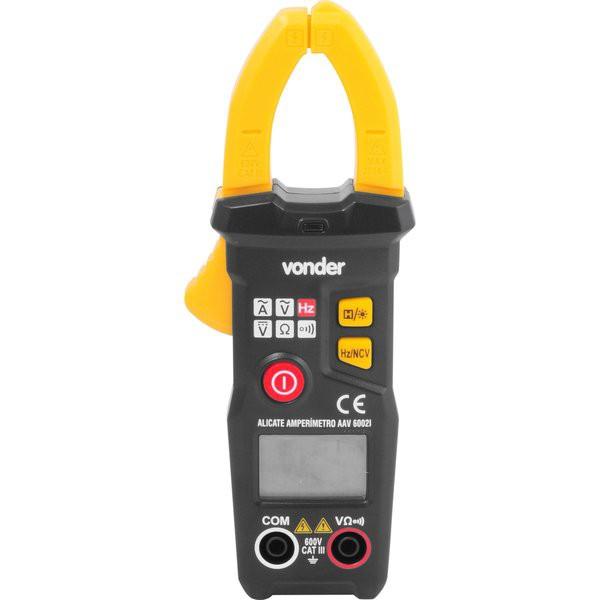 Alicate amperímetro digital inteligente AAV 6002I VONDER