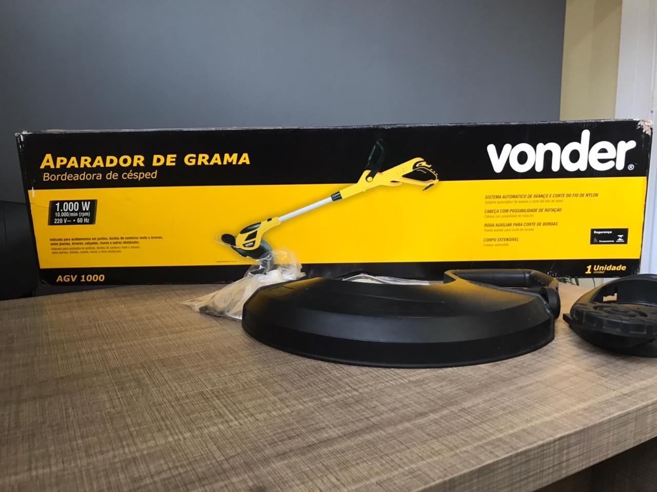 Aparador De Grama 1000W AGV1000 220V Seminovo Vonder