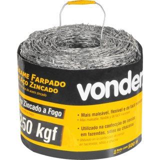 Arame Farpado 250 kgf 500m Vonder