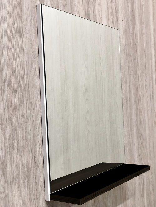 Armário para Banheiro Branco com Preto / Kit Roma Suspenso