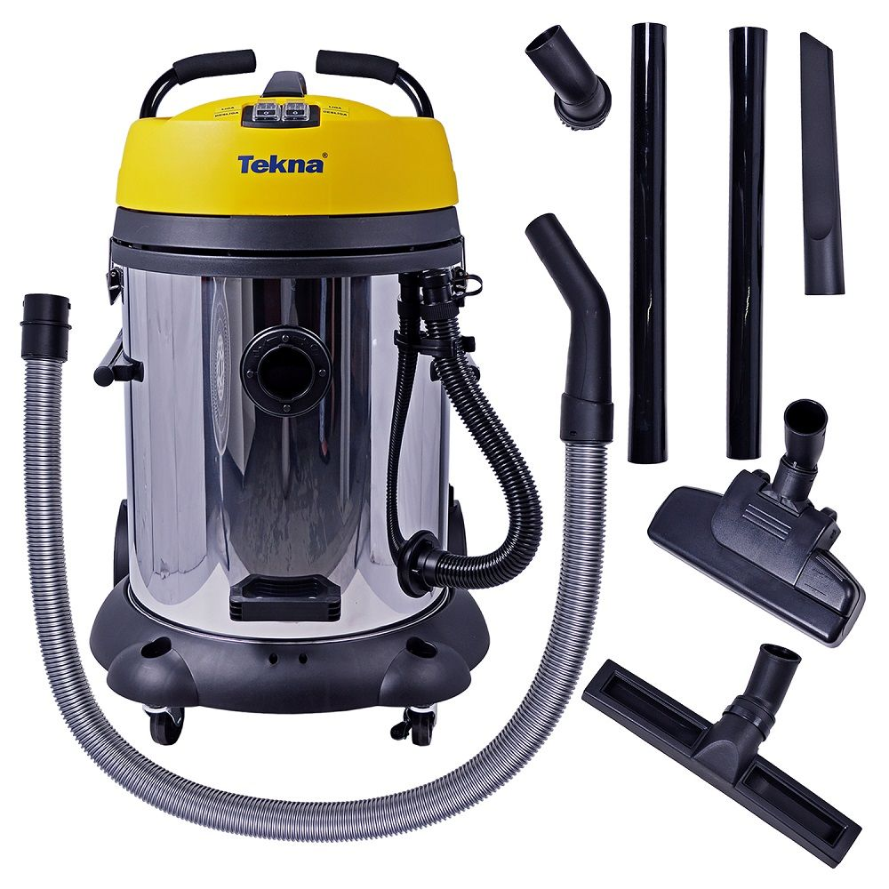 Aspirador de Água e Pó 2 Motores 60L Work60 Inox - Tekna