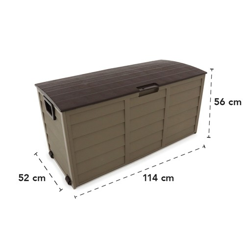 Baú De Plástico Bel Fix 558712 Dobrável 280 Litros Marrom