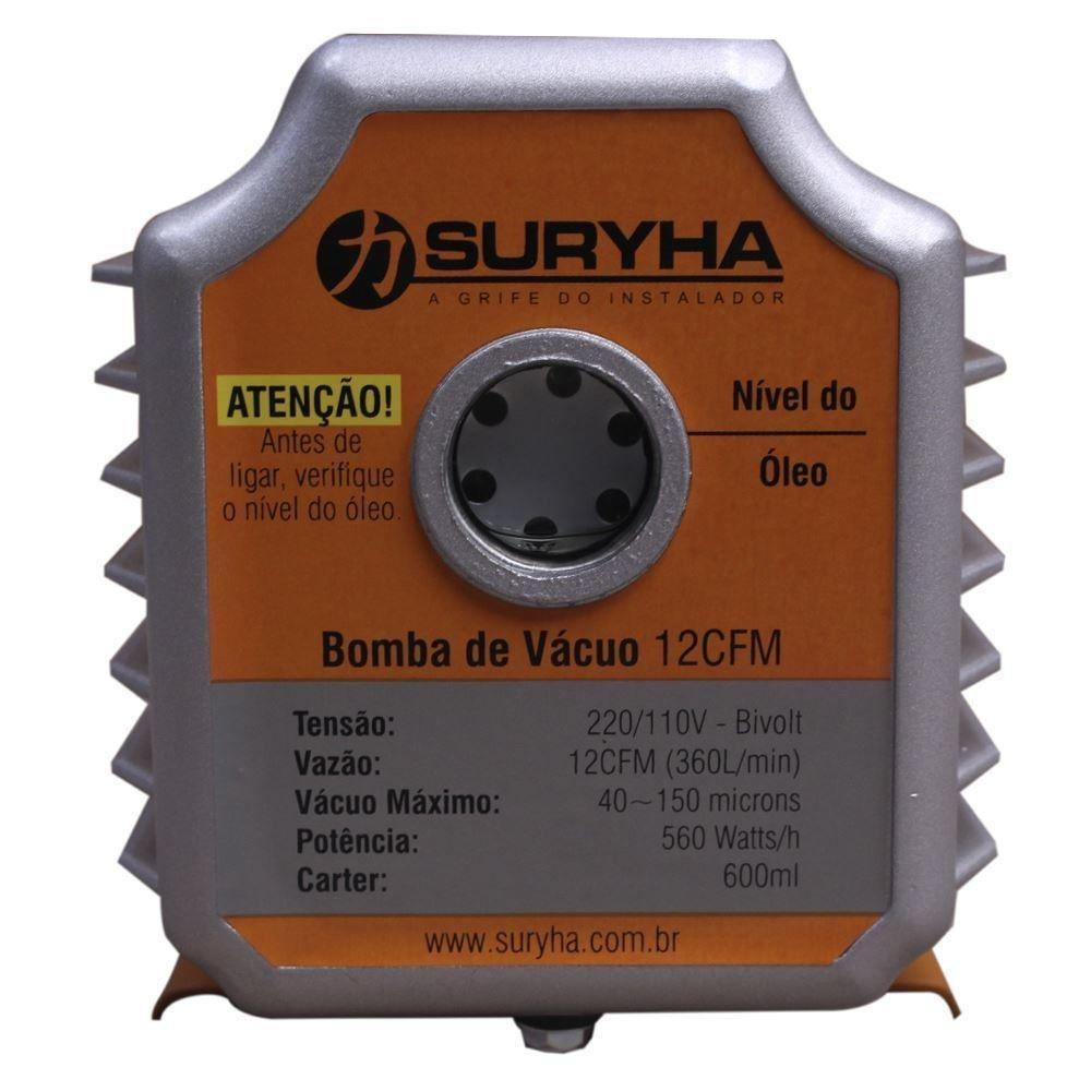 Bomba de Vácuo 12CFm com Vácuometro - Suryha