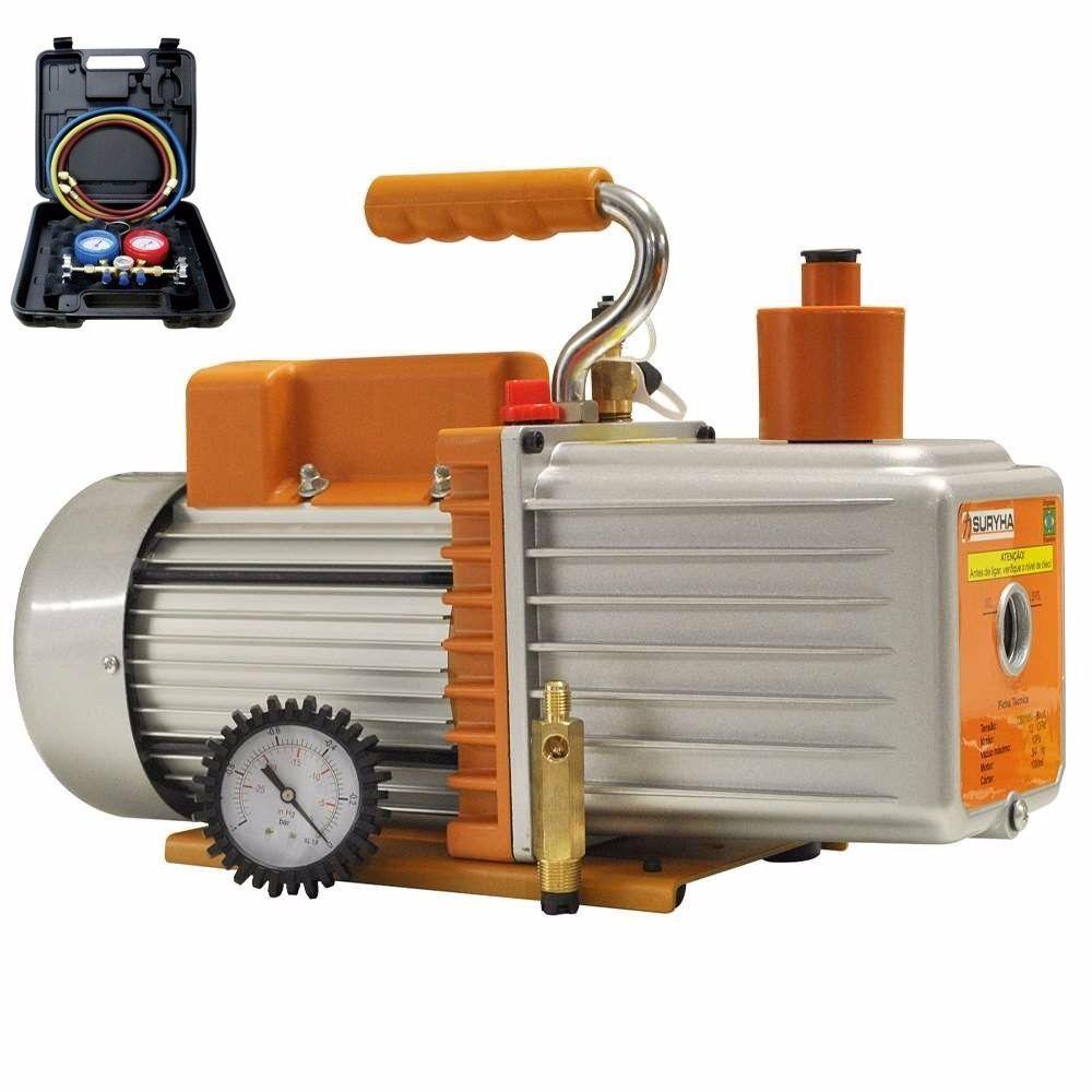 Bomba de vacuo 7 cfm com kit manifold  R410