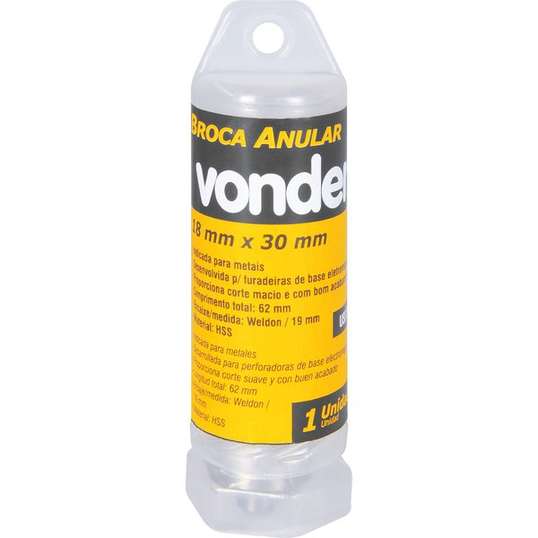 Broca Anular Encaixe Weldon 18mm x 30mm VONDER
