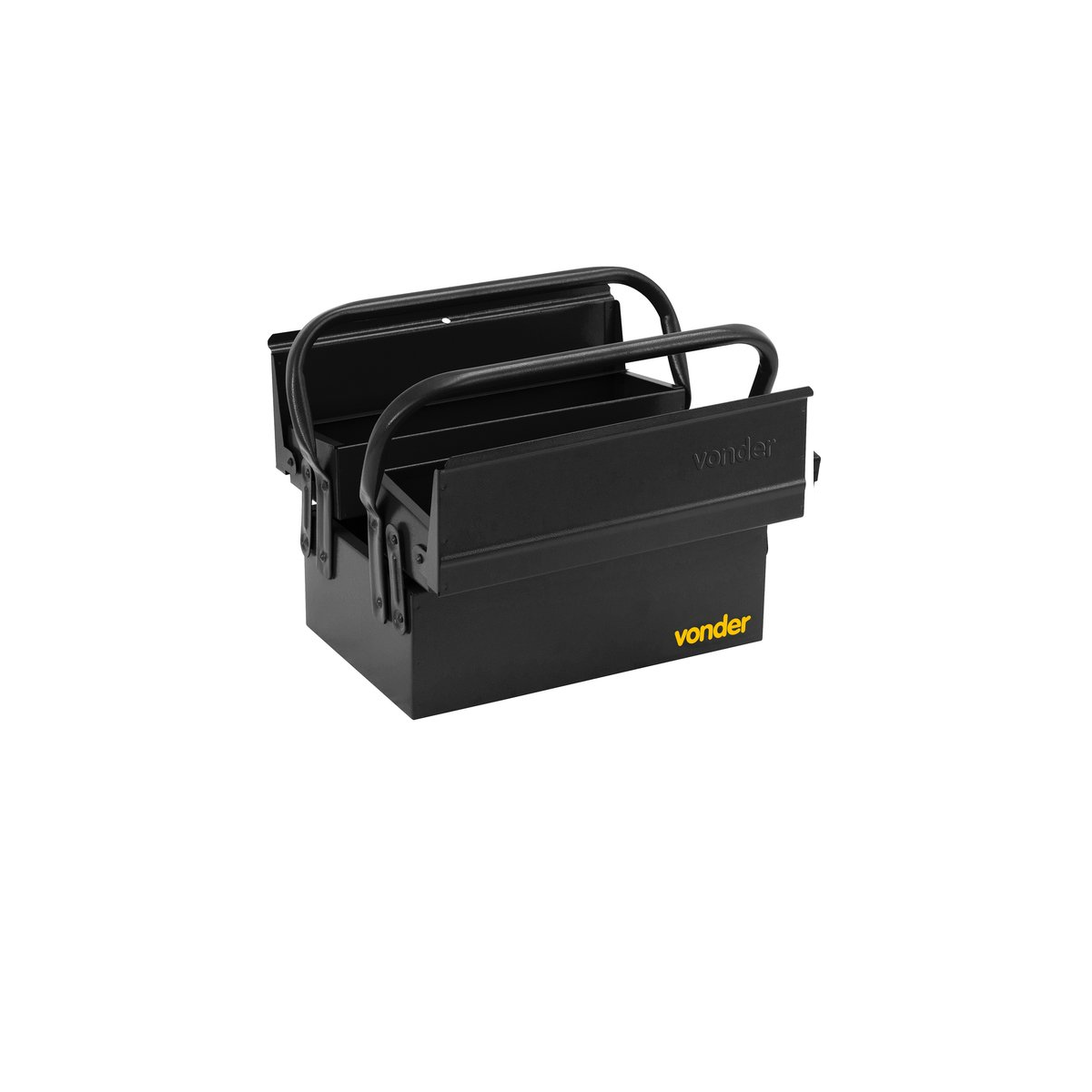 Caixa metálica para ferramentas Sanfonada 3 gavetas  30cm x 19cm x 16cm VONDER