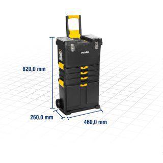 Caixa plástica com rodas CRV 0500 VONDER