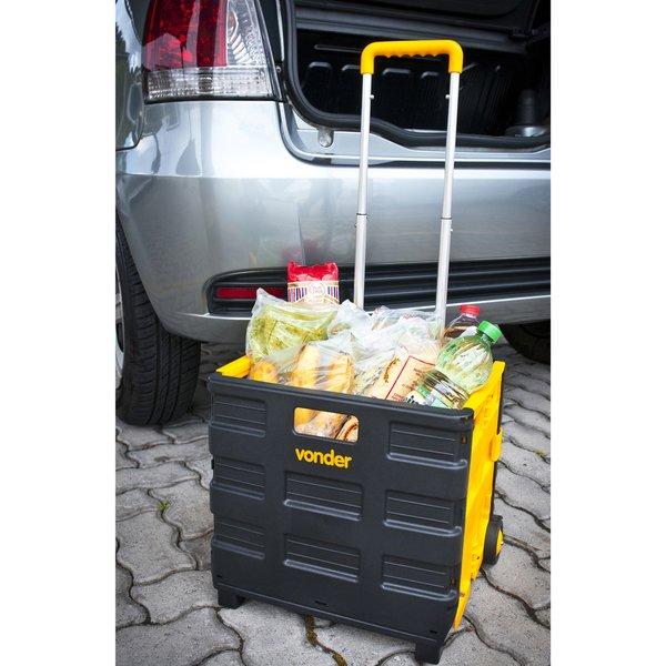 Caixa Plástica Desmontável com Rodas Vonder