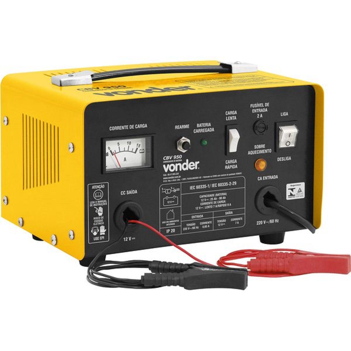 Carregador de Bateria 12V CBV 1600 Vonder 110v