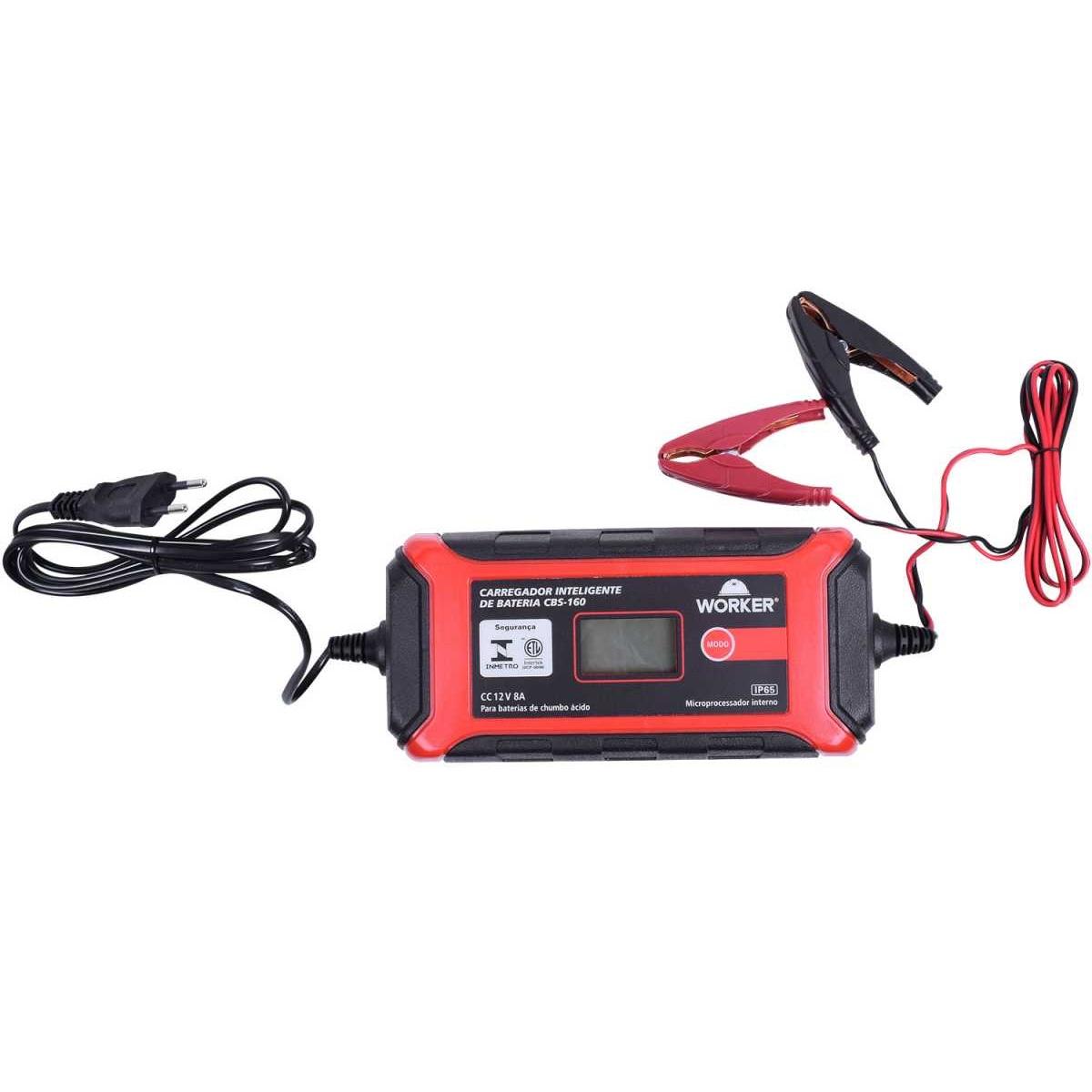 Carregador De Bateria Worker 868132 CBS-160 8A 220V