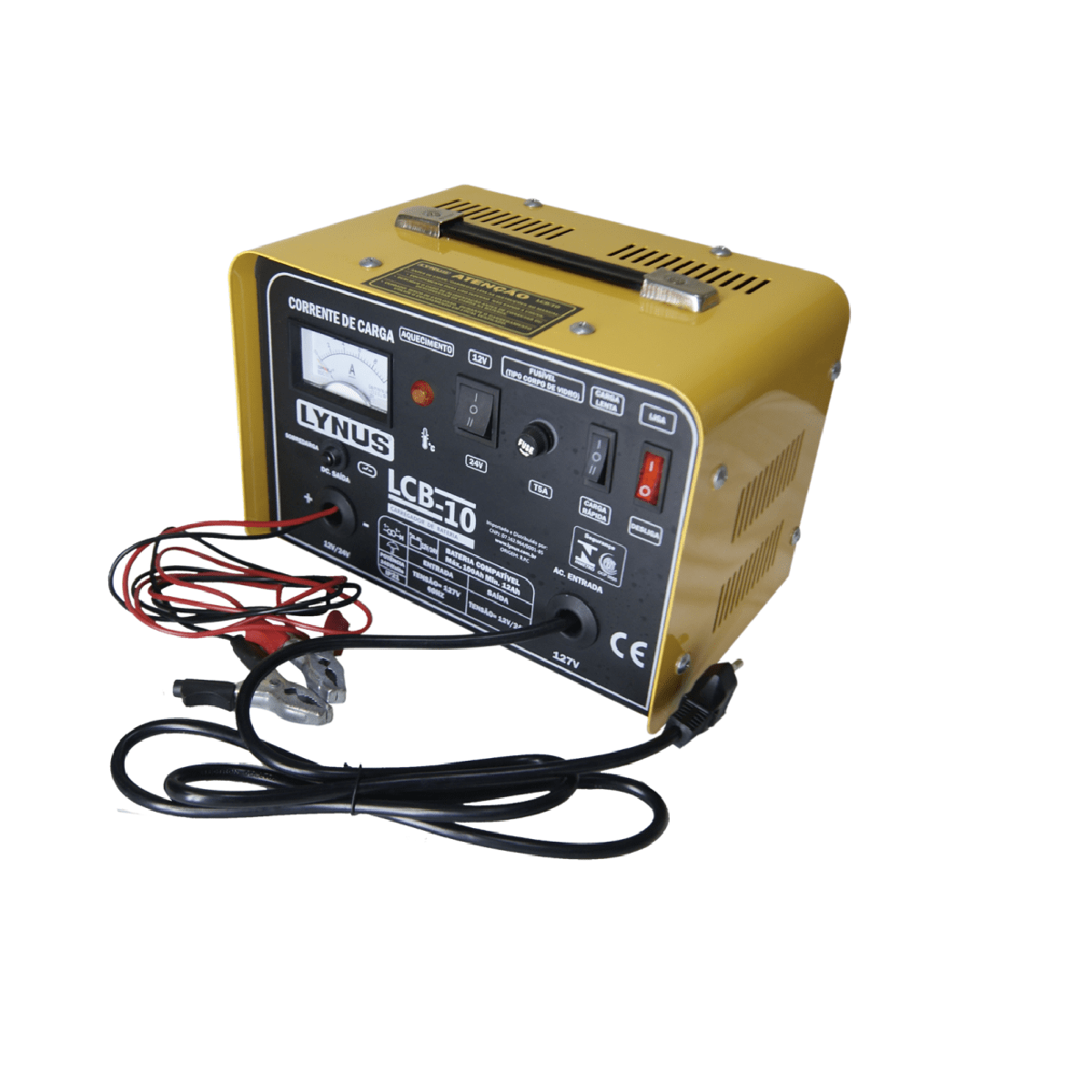 Carregador de Baterias 100A 12/24 V 220V LCB10 Lynus