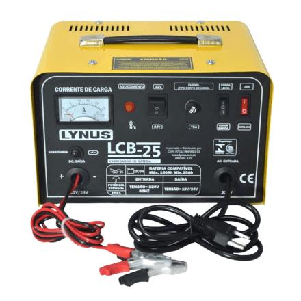 Carregador De Baterias 150a 12/24v Lcb-25 220v Lynus