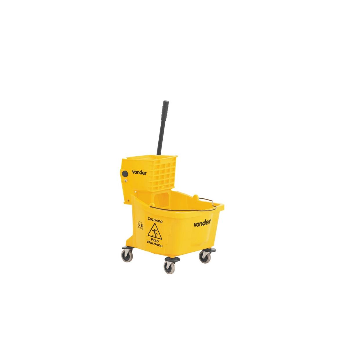 Carro/balde plástico para limpeza com espremedor 32 litros BEV 3200 VONDER