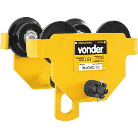 Carro Trole Manual Capacidade Para 1 Tonelada TM 100 Vonder