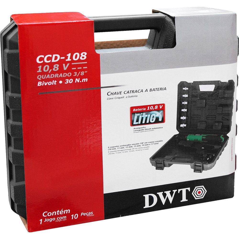 "Chave Catraca a Bateria 10,8V 3/8"" CCD108 DWT"