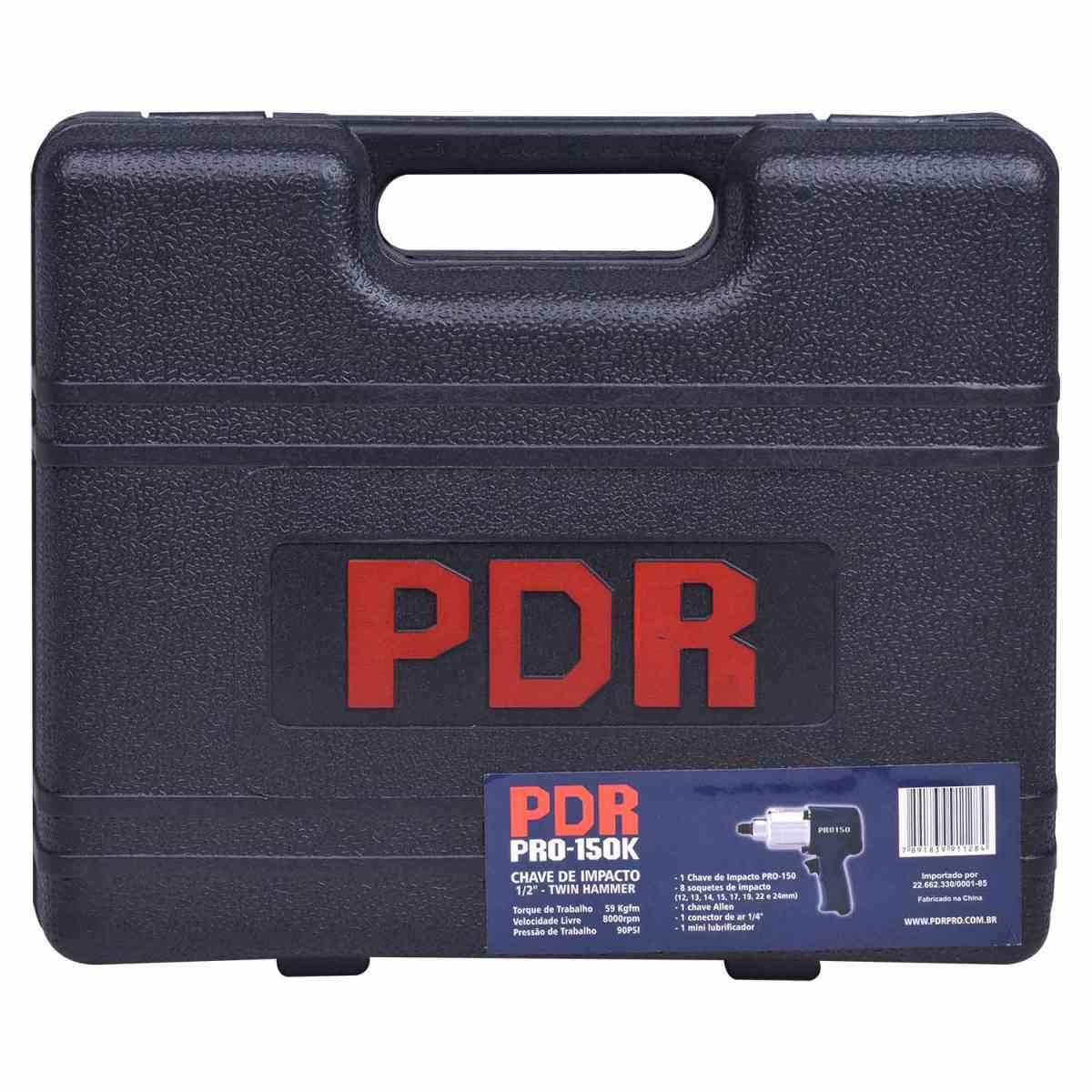 "CHAVE DE IMPACTO 1/2"" TWIN HAMMER COM MALETA  - PRO-150K PDR PRO"