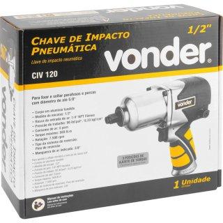 "Chave de Impacto Pneumática 1/2"" - 12,7 mm CIV 120 Vonder"