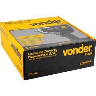 """Chave de Impacto Pneumática 3/4""""- 19,1mm CIP 340 Vonder Plus"""