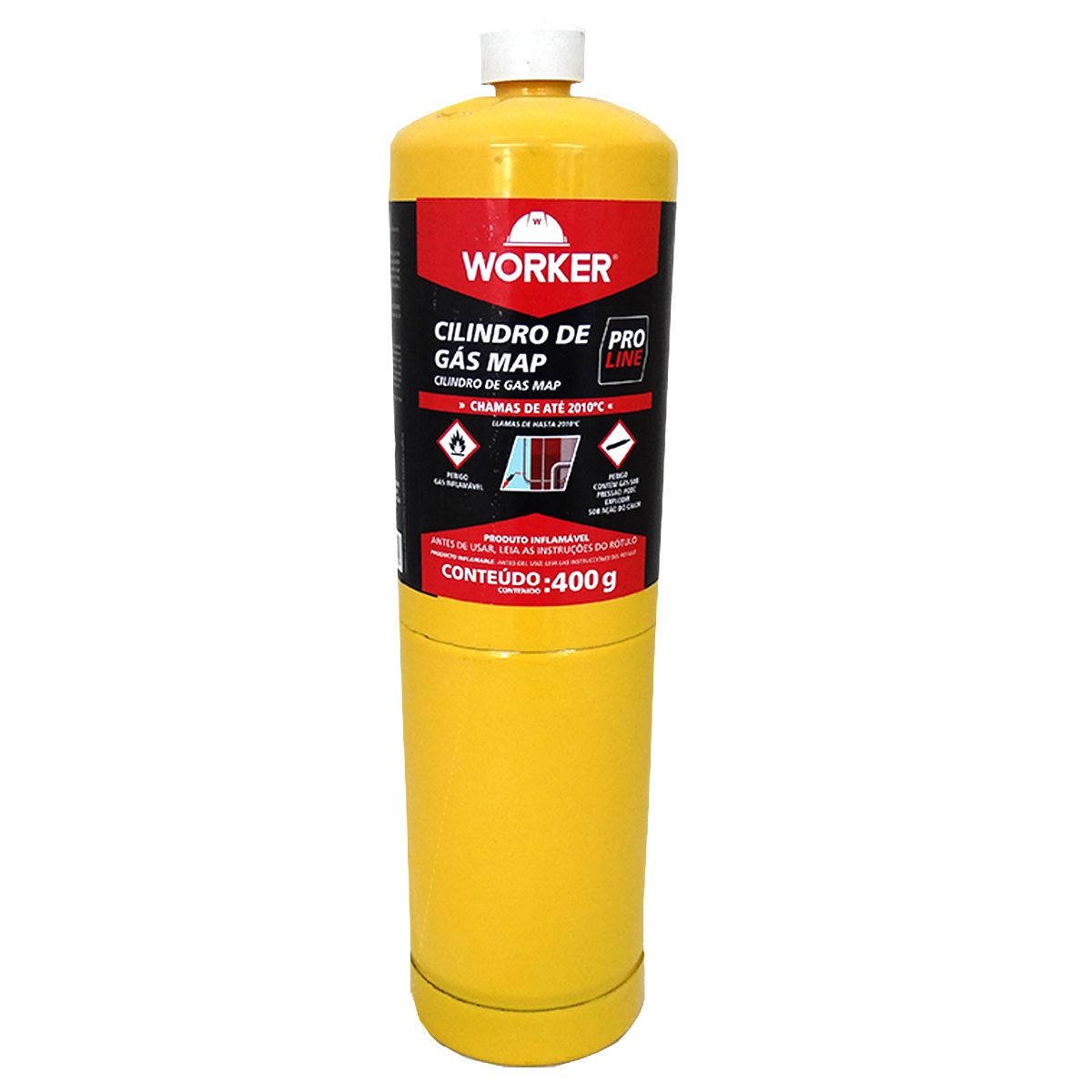Cilindro de Gás Map Pro 400g – Worker