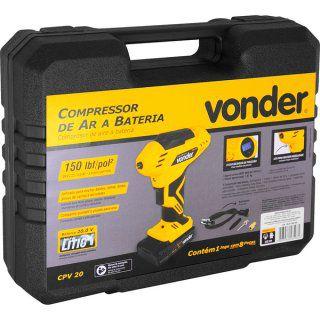 Compressor de ar a bateria tipo pistola 20V  CPV 20 VONDER