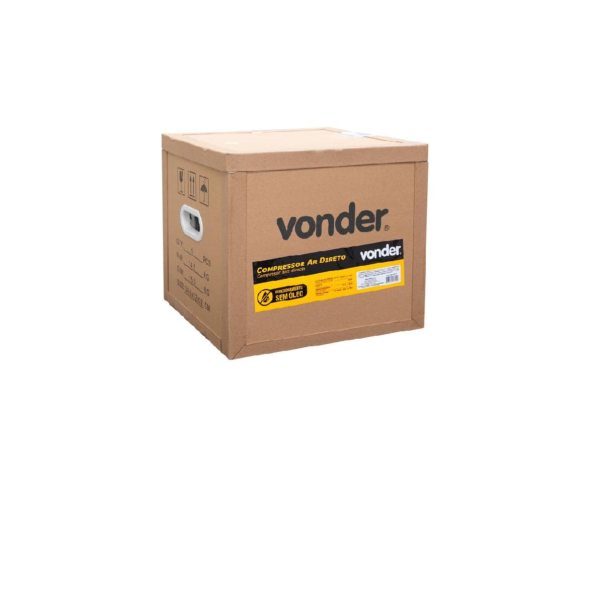 Compressor de Ar Direto 1hp 127V VONDER
