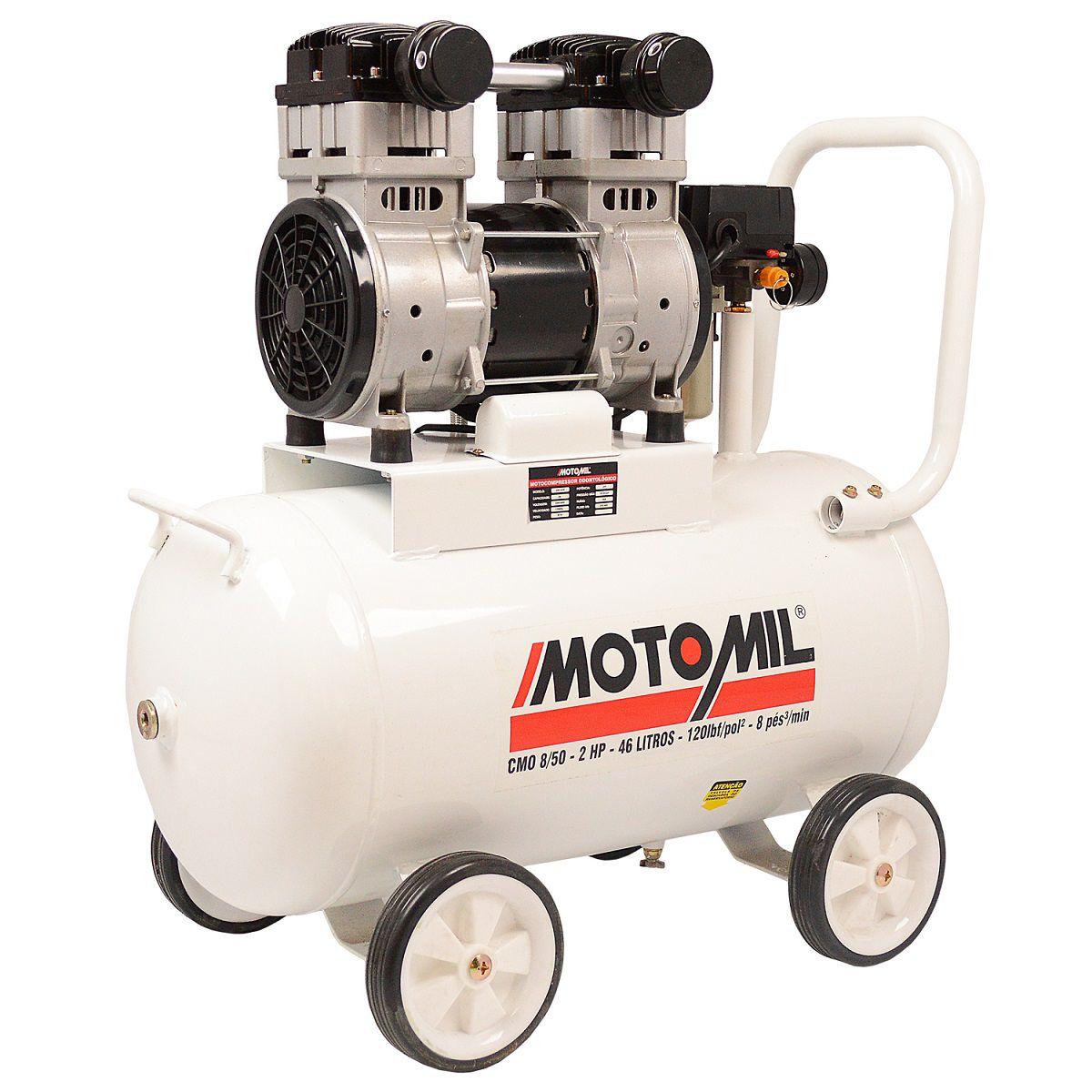 Compressor de Ar Odontológico 8Pcm Cmo-8/50 Motomil - 220V Mono