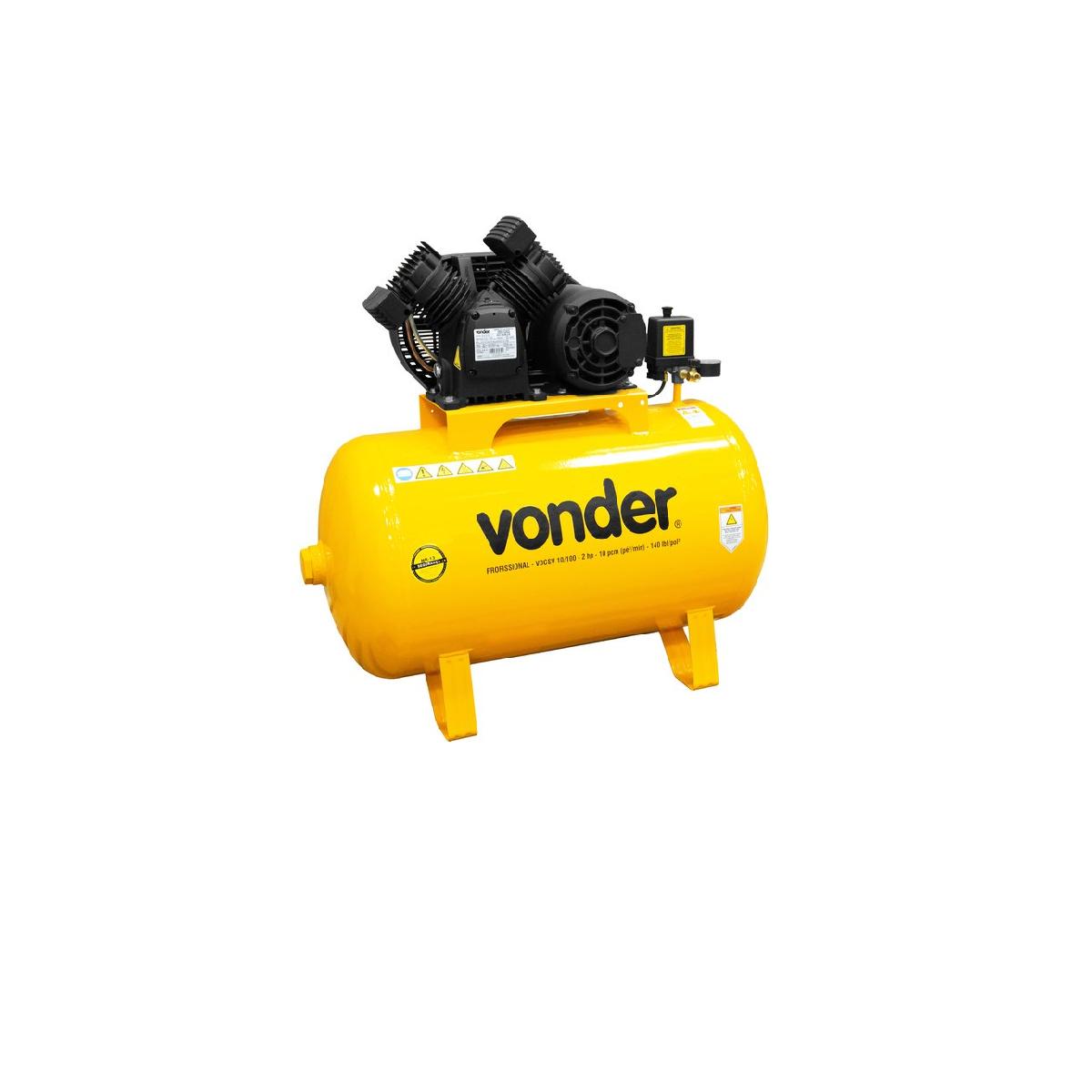 Compressor de Ar VDCSV10/100 Trif 220V/380V VONDER