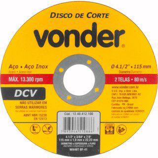 """Conjunto esmerilhadeira de 4.1/2"""" e furadeira de 1/2"""" 220 V com jogo de brocas e disco EFV 751 VONDER"""