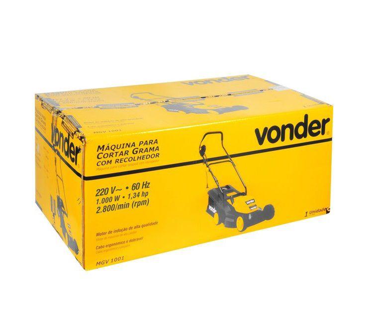Cortador de Grama Eletrico 1000 w 220v com recolhedor, MGV 1001 - Vonder