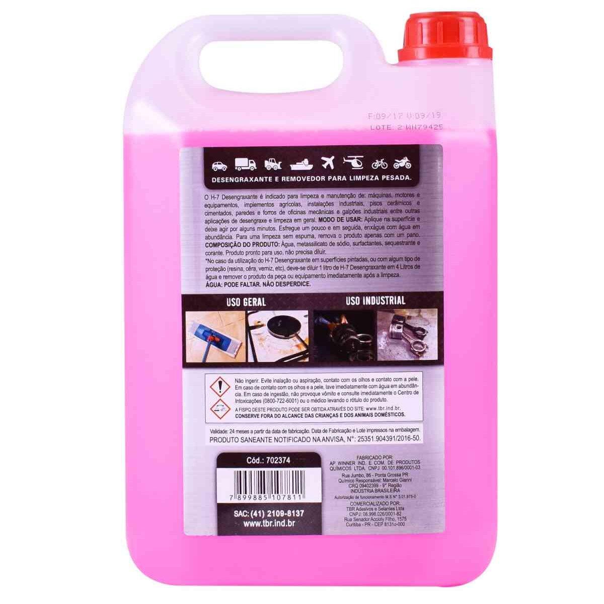 Desengraxante Removedor Multiuso Limpeza Pesada 5 Litros H7
