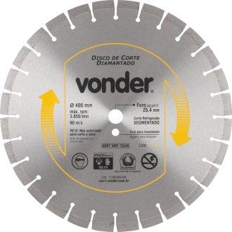 Disco de corte diamantado 400 mm segmentado CBV 2300 VONDER12.68.900.040
