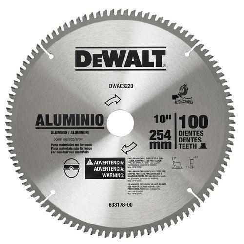 "Disco de Serra 10"" 100 dentes para Alumínio Dewalt"