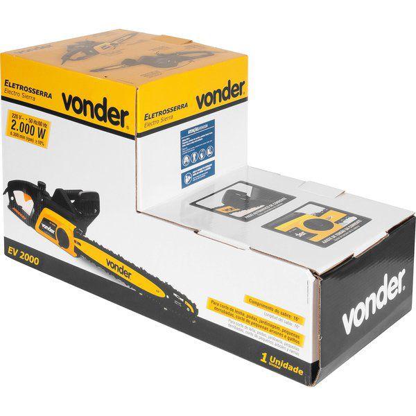 """Eletrosserra de 16"""" 2000 W 220V - EV 2000 VONDER"""