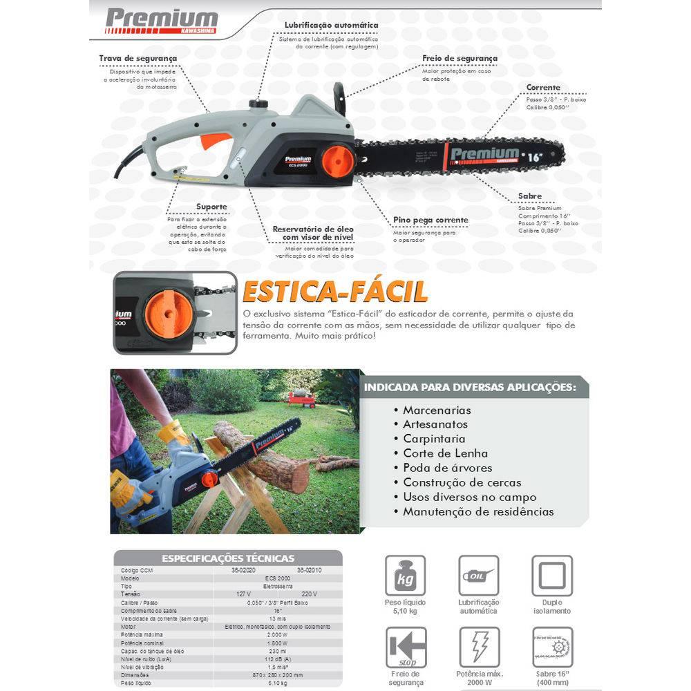 Eletrosserra Premium ECS 2000 - Kawashima