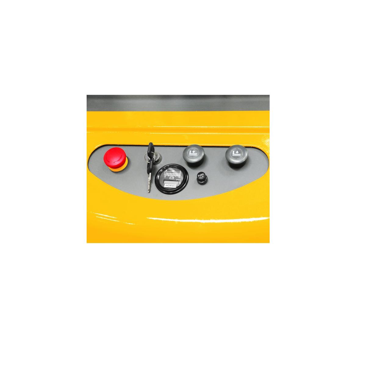 Empilhadeira semielétrica S/ bateria e carregador 1,5tf ESV1500 VONDER