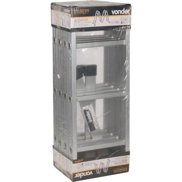 Escada 4x3 12 degraus Articulada Aluminio Vonder