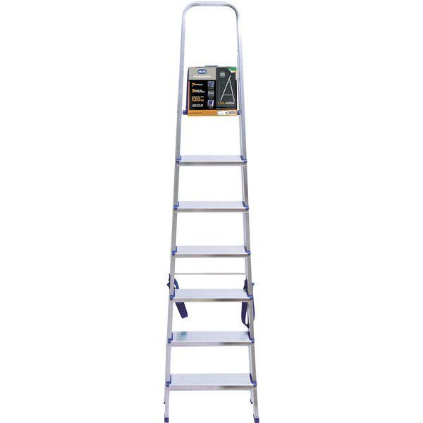 Escada Alumínio 7 Degraus 120kg - Mor