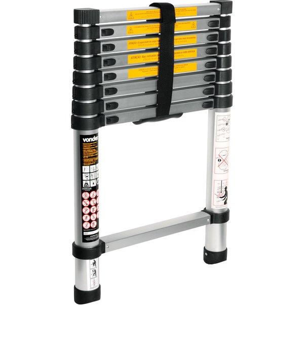 Escada telescópica de alumínio 8 degraus VONDER