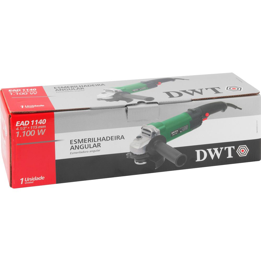 "Esmerilhadeira Angular 1100W 4.1/2"" EAD1140 220V DWT"