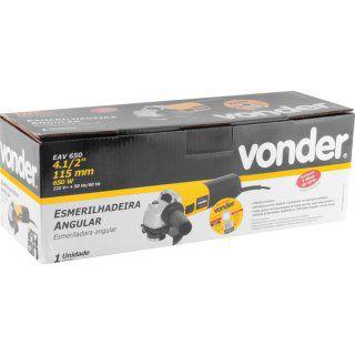 """Esmerilhadeira angular 4.1/2"""" com disco EAV 650 220V VONDER"""